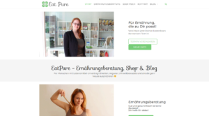 Eatpure – Landingpage und Blog